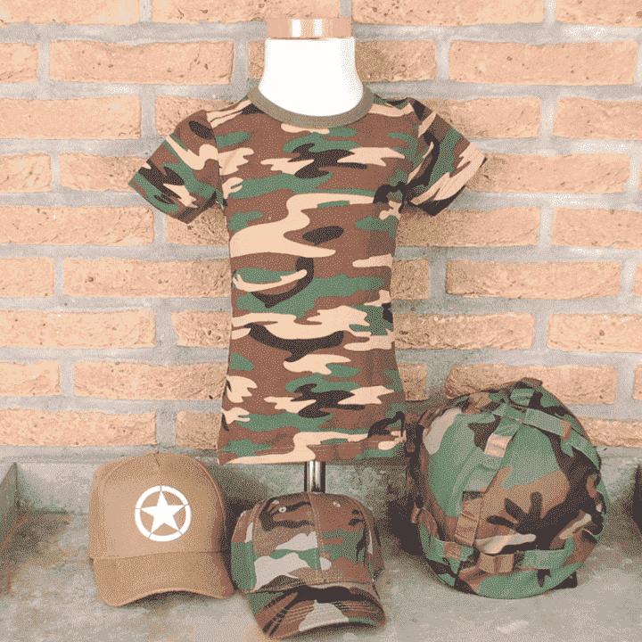 Camouflage en leger artikelen