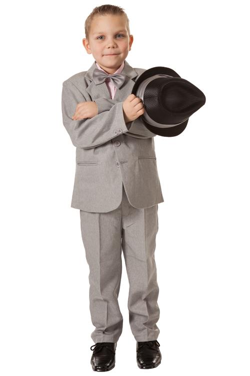 Jongens kostuum lichtgrijs- 86