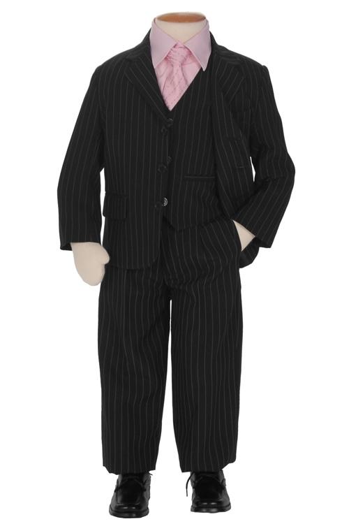 Jongens kostuum zwart met krijtstreep- 86