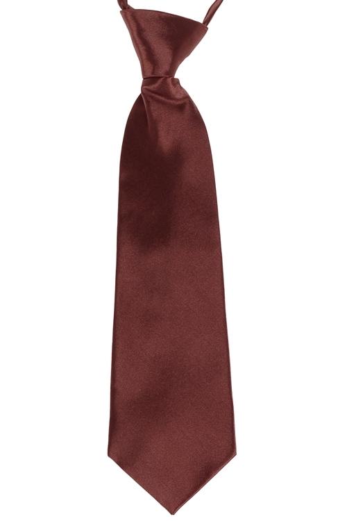 Kinderstropdas bruin effen-32cm