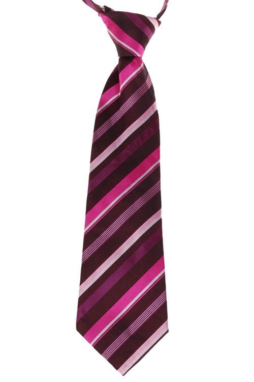Kinderstropdas zwart met roze strepen-26cm