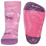 Antislip sokken paardjes roze