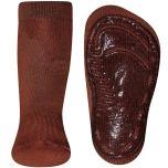 Antislip sokken Effen Bruin