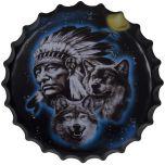 Bierdop/kroonkurk indiaan