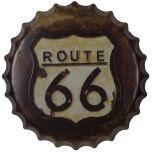 Bierdop/kroonkurk route 66 bruin