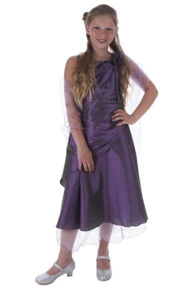 Galajurk meisjes paars met overslag