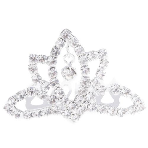 Mini tiara zilver met strass