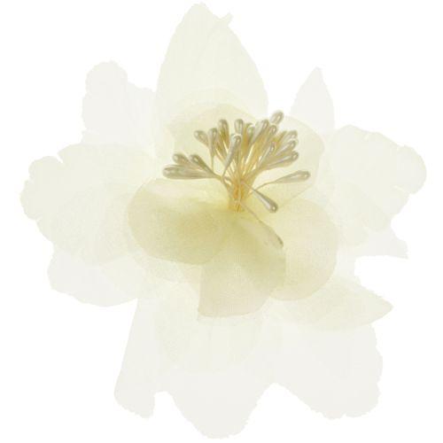 Haarclipje bloem ivoor