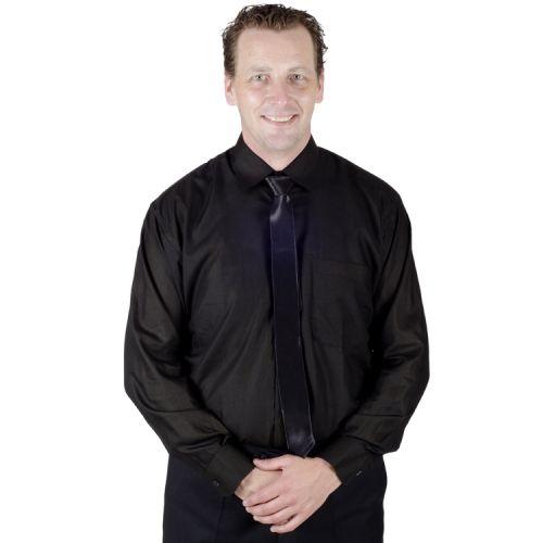 Herenoverhemd zwart