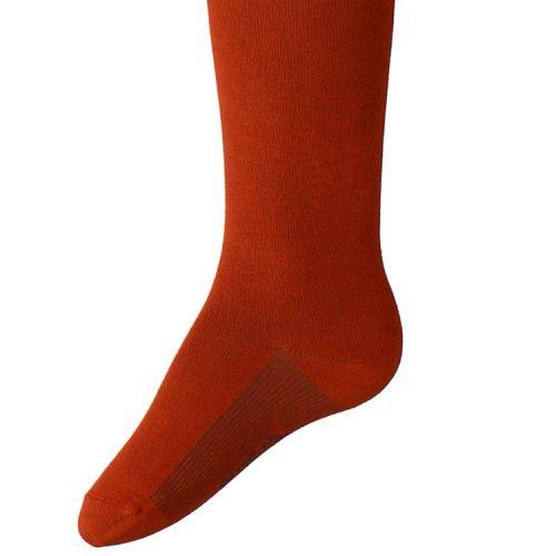Kindermaillot effen Koper - Donker Oranje/Bruin