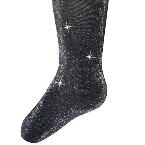 Glitterpanty zwart met zilveren glitters
