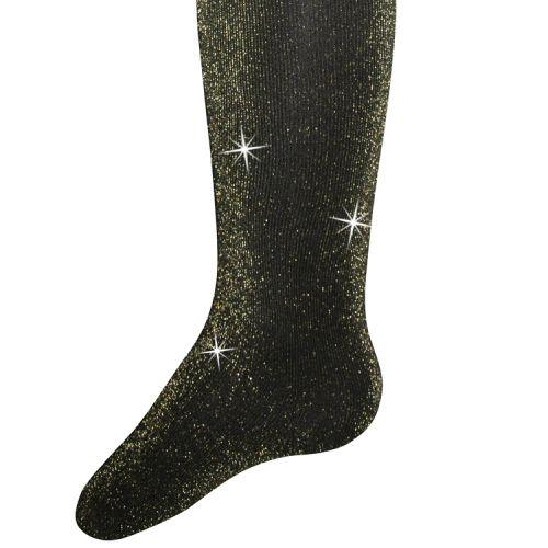Glitterpanty zwart met gouden glitters