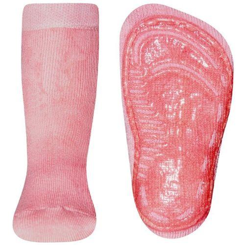 Antislip sokken effen oudroze