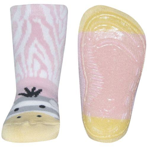 Antislip sokken zebra roze