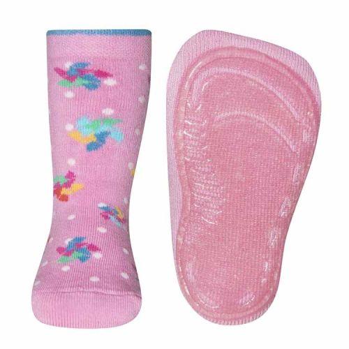Antislip sokken met ster en stippen roze