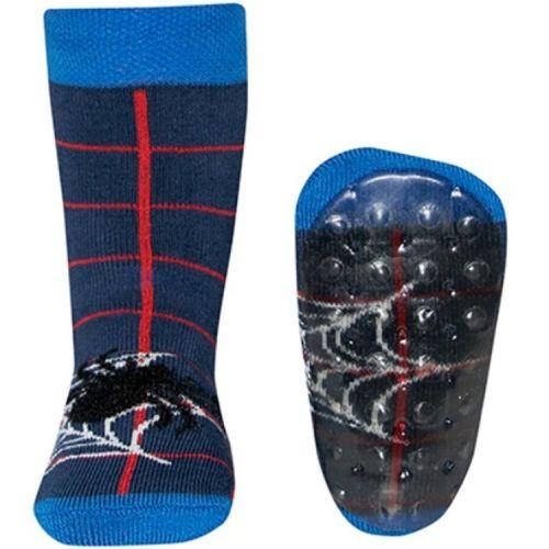 Antislip sokken donkerblauw met spin