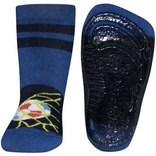 Antislip sokken blauw met voetbal