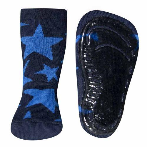 Antislip sokken donkerblauw met blauwe sterren