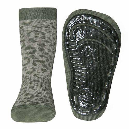 Antislip sokken met wildlife print groen