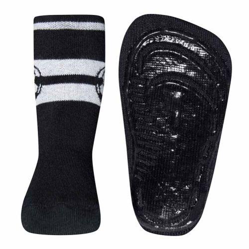 Antislip sokken met voetbal zwart/wit