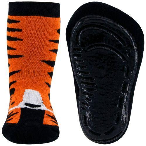 Antislipsok oranje tijgerstrepen en tijgerkop