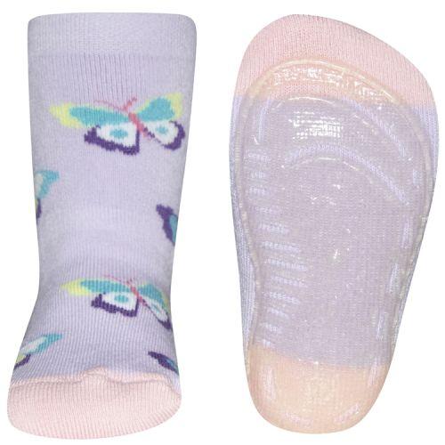 Antislip sokken vlinders lila