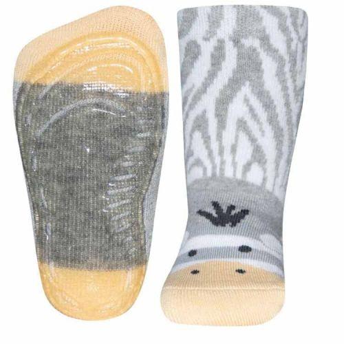 Antislip sokken zebra lichtgrijs