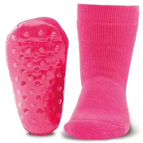 Antislip sokken effen fuchsia
