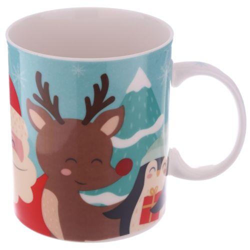 Beker kerst rendier/sneeuwpop/kerstman