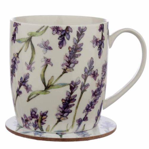 Beker met onderzetter Lavendel
