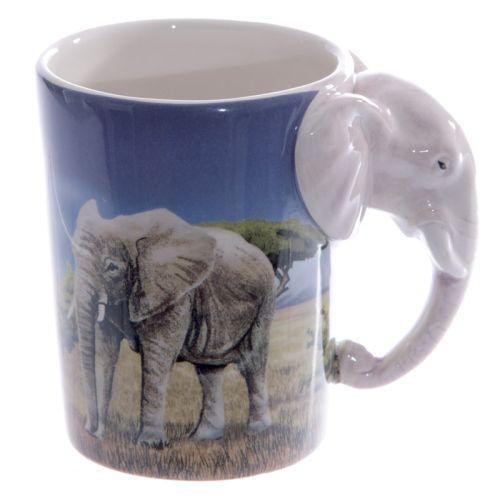 Beker met olifant handvat