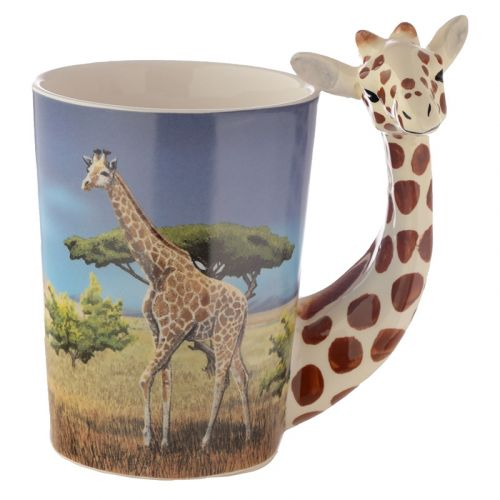 Beker met giraffe handvat