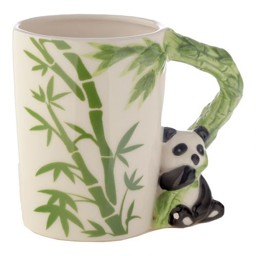 Beker met panda handvat