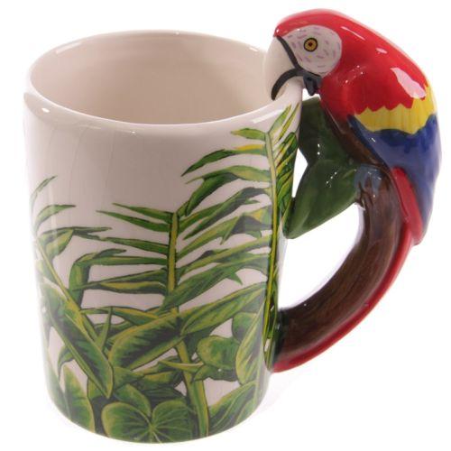 Beker met papegaai handvat