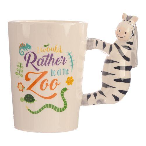 Beker met zebra handvat