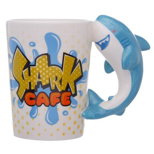 Beker met haaien handvat - Shark cafe