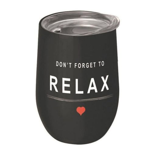RVS kantoorbeker thermobeker 420ml - Don't forget to relax