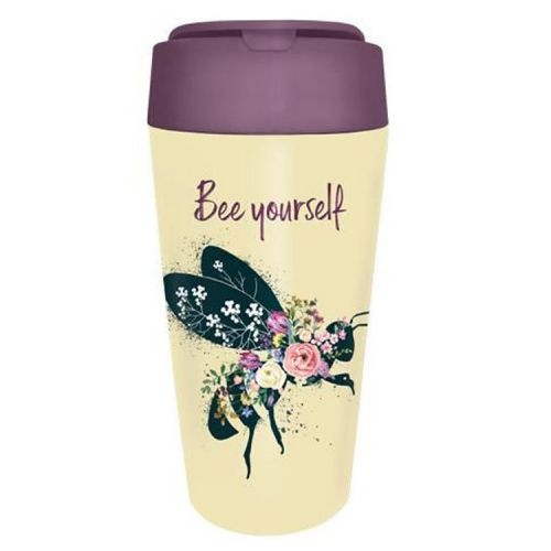 PLA/plant bioloco beker to go 420ml - Bee yourself