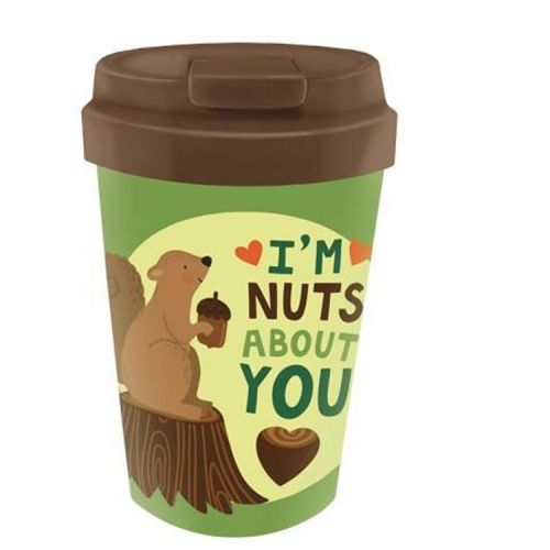 PLA/plant bioloco beker to go 350ml - Eekhoorn - I'm nuts about you