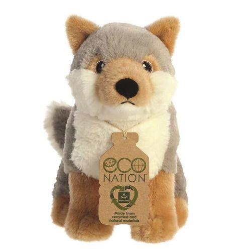 Eco Nation knuffel van gerecycled materiaal - Wolf 24 cm