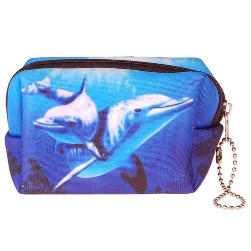 Kleine etui/klein toilettasje dolfijn