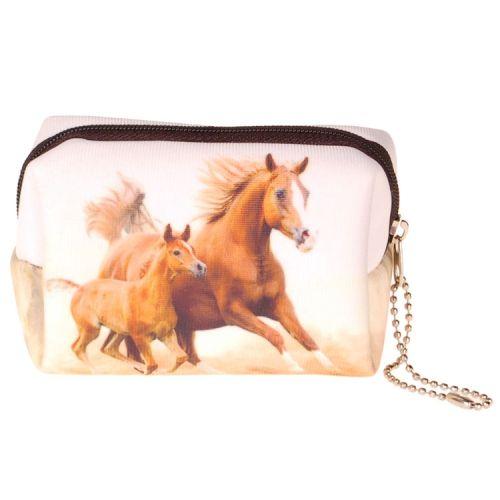 Kleine etui/klein toilettasje paard
