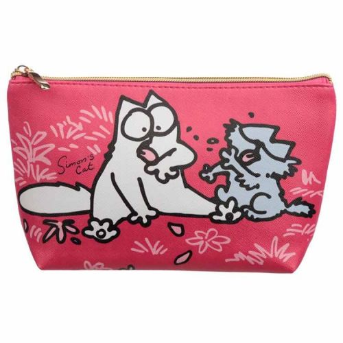 Toilettas medium Simon's Cat fuchsia