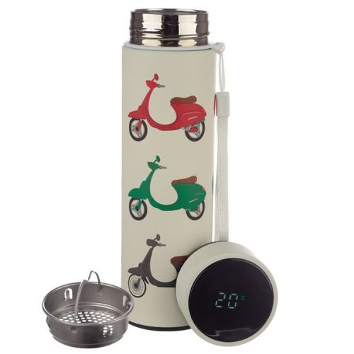 Thermosfles RVS 500ml met thermometer -  Vespa scooters