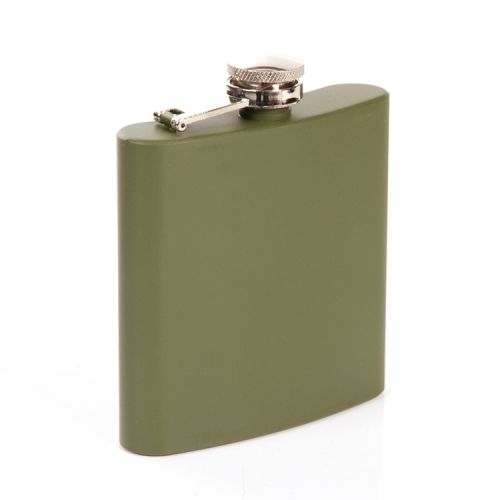 Zakfles/heupflacon groen 180ml