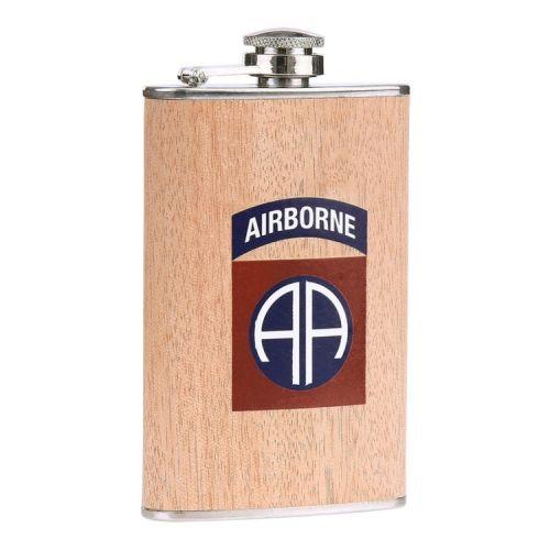 Zakfles/heupflacon houtlook 150ml - 82nd Airborne