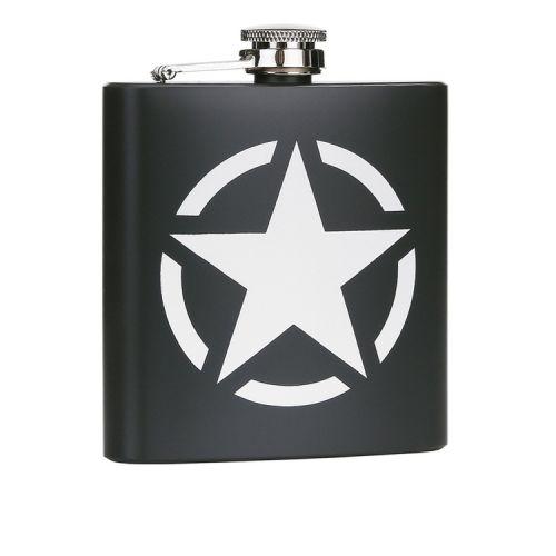 Zakfles/heupflacon groen 180ml - US Army Star