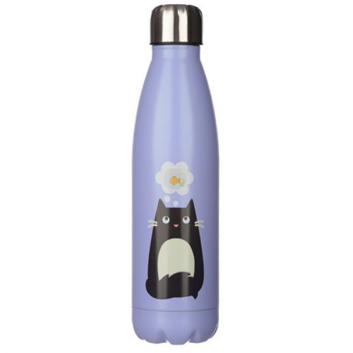 Thermosfles RVS 500ml - Feline Fine Cat Lila