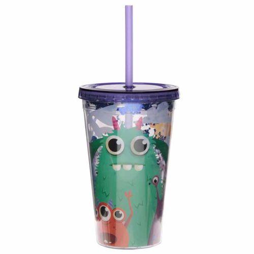 Drinkbeker met rietje - Monsters/Monstarz