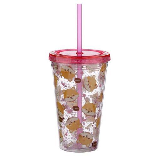 Drinkbeker met rietje - Cutiemals Shiba Inu